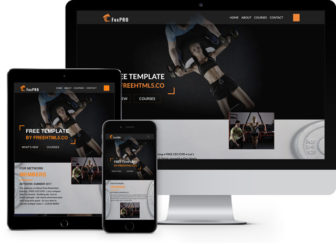 fox - Free one page gyms & fitness bootstrap4 Template
