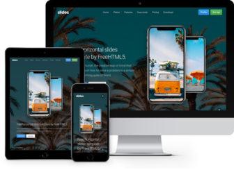 Slides - Responsive Free HTML5 Horizontal Slides Template