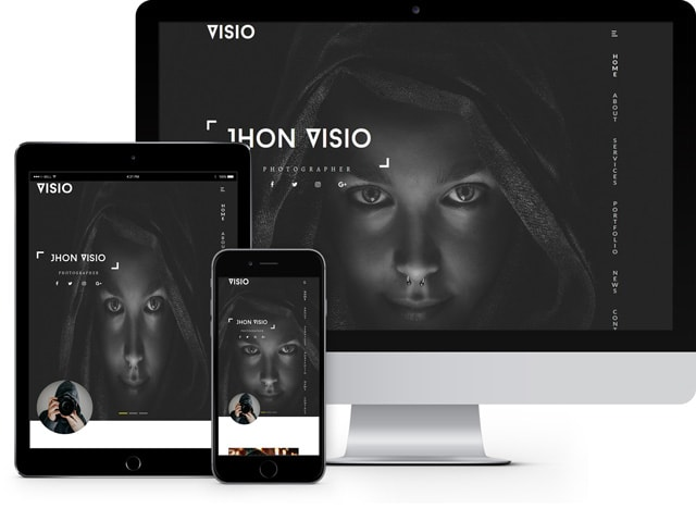 visio photography website template