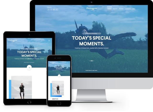 Photogenic: Free Bootstrap Portfolio Website Template - FreeHTML5.co