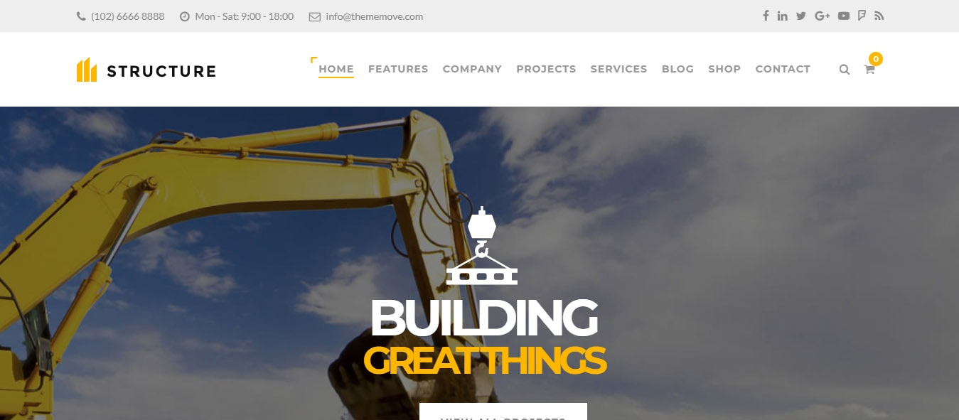 construction fast wordpress theme