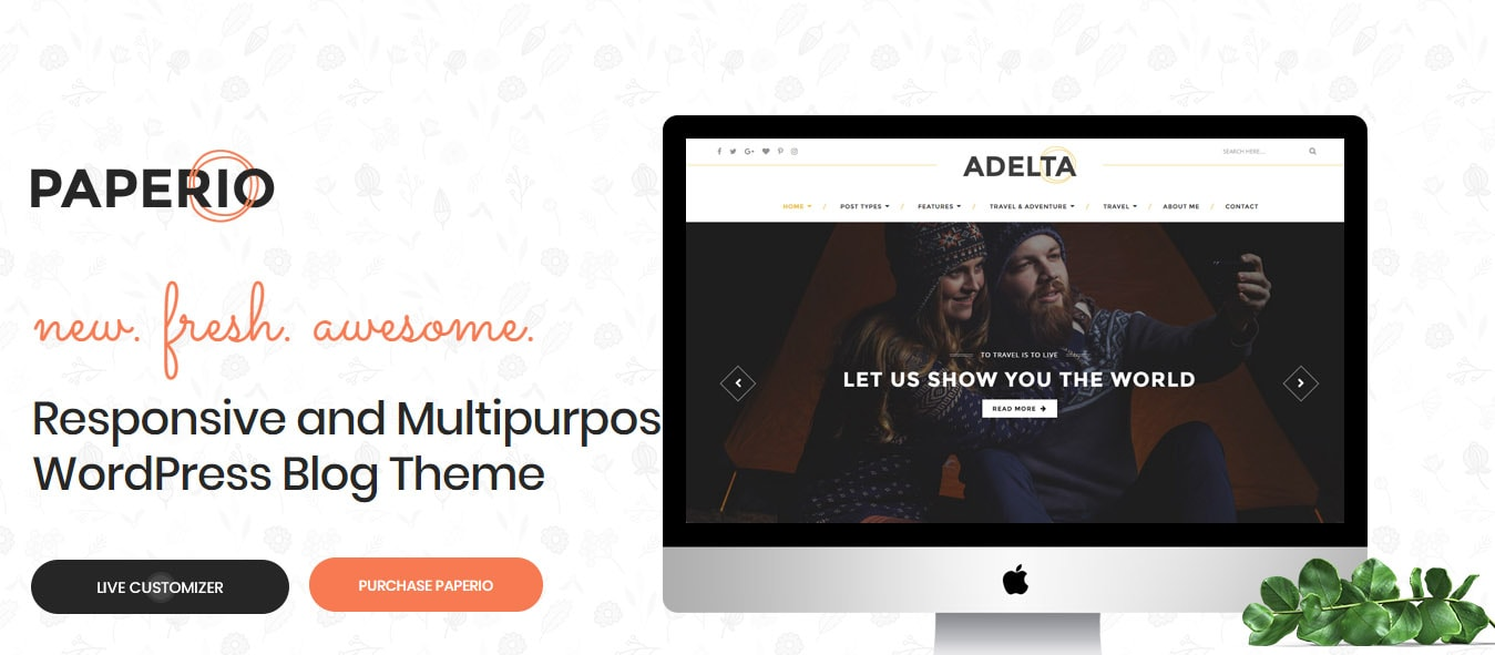 Paperio fast WordPress theme 2019