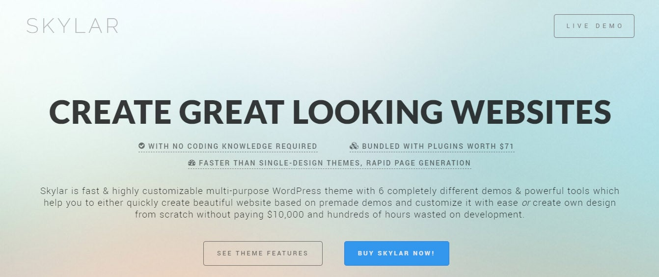 Skylar fast WordPress theme 2019