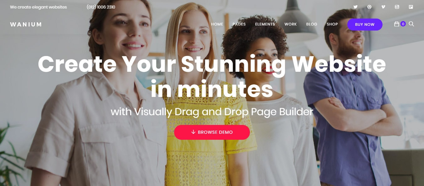 Wanium: nice fast WordPress theme