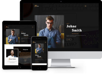 free HTML template for authors