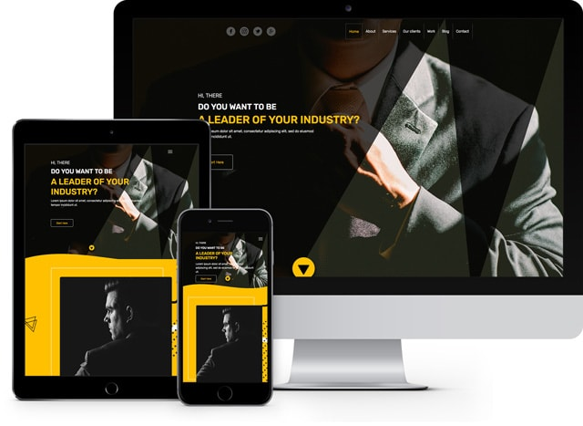 leader personal business influencer HTML5 template