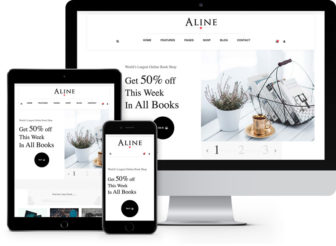aline - book store website template
