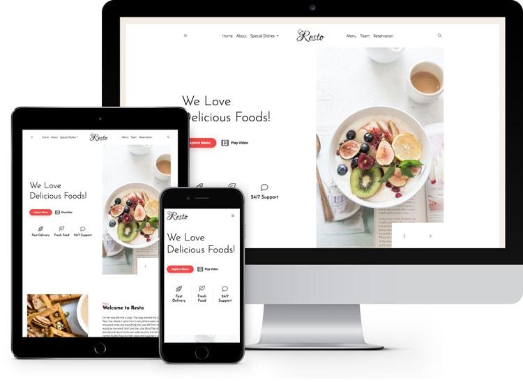 Resto - Free Responsive Restaurant Website Template