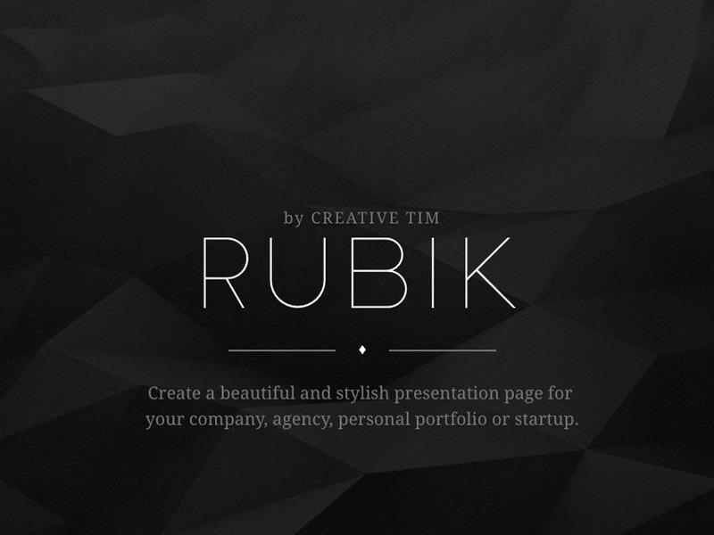 Rubik Presentation Page Image