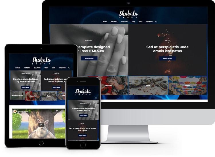 shahala: free blog & news bootstrap template