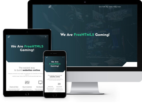 Gaming: Bootstrap Template for Gaming and Hosting
