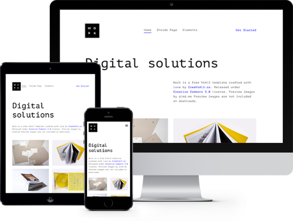 Work: Free HTML5 Template Bootstrap